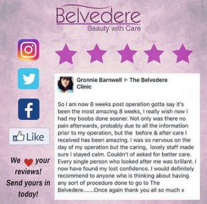 breast enlargement review at the Belvedere Clinic - using motiva breast implants