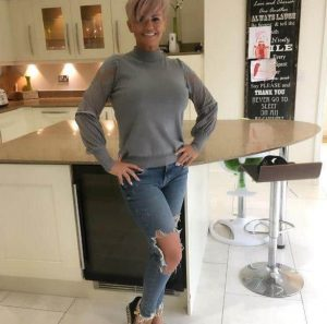 Kerry Katona after Liposuction surgery with the Belvedere Clinic