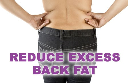 reduce excess back fat with liposuction